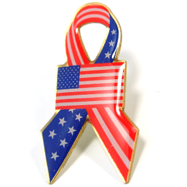 Stock USA Ribbon Flag Pin