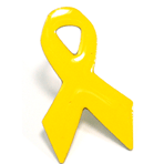 Yellow Ribbon Pin - printed - CLEARANCE SALE!