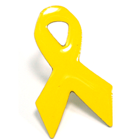 Yellow Ribbon Pin - printed