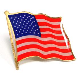 American Flag Lapel Pin - Screened