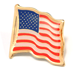 American Flag Lapel Pin - Etched