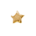 Star - 1/4 inch Gold Star - CLEARANCE SALE !