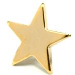 Star - 1/2 inch Gold Star
