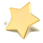 Star - 3/4 inch Gold Star - CLEARANCE SALE !