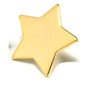 Star - 3/4 inch Gold Star