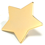 Star - 1 inch gold star - CLEARANCE SALE !