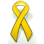 Awareness Ribbon Pin - Yellow