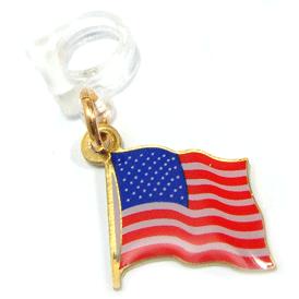 American Flag Pencil Charm