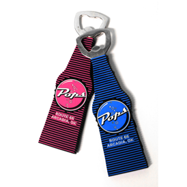 Soft Rubber - Bottle Opener with Magnet Backing
