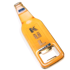 Printed - Bottle Opener with Magnet Back