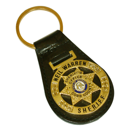 Key Tag - Die Struck Brass on Leather Fob