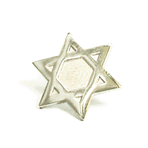 Religious - Star of David Lapel Pin - Silver-SALE!