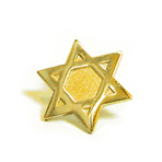 Religious - Star of David Lapel Pin - Gold - SALE