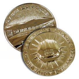 Coin - Steel - 3D - 2 Sided