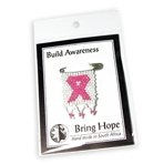 Stock Awareness - Pink - Beaded Banner Pin