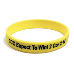 Debossed Color Fill - Silicone Wristband