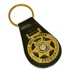 Key Tag - Die Struck Steel on Leather Fob