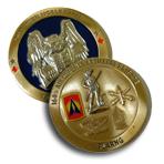 Coin - Brass - 3D - 2 Sided