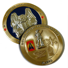 Coin - Brass - 3D - 2 Sided