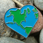 GO GREEN! - Earth Heart Lapel Pin CLEARANCE SALE!