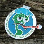 GO GREEN! - Global Warming Lapel Pin CLEARANCE