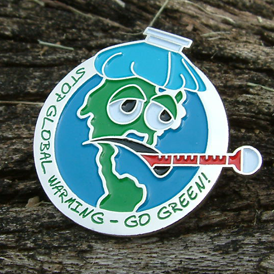 GO GREEN! - Global Warming Lapel Pin