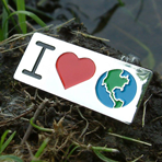 GO GREEN! - I Love Earth Lapel Pin CLEARANCE
