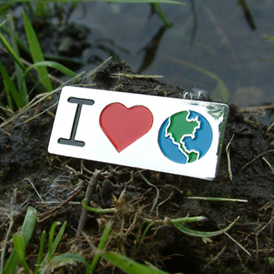 GO GREEN! - I Love Earth Lapel Pin