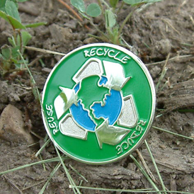GO GREEN! - Reduce Reuse Recycle Lapel Pin