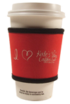 Cup Cozy Sleeve - Screen Printed - Neoprene