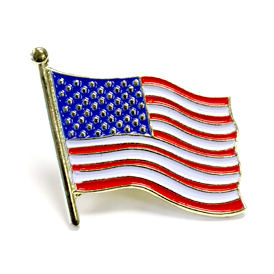 American Flag - Die Struck lapel pin