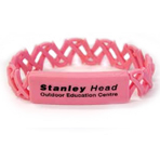 Ribbon Link Silicone ID Wristband