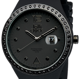 Lolliclock Evolution Date Black Crystal