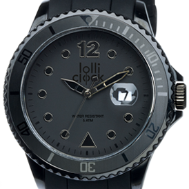 Lolliclock Watch Black Date