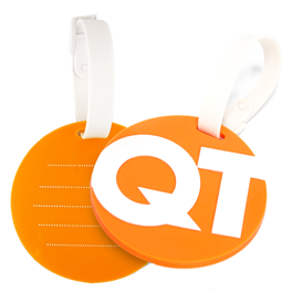 Soft Rubber - Luggage Tag w/ Screened Back 2D