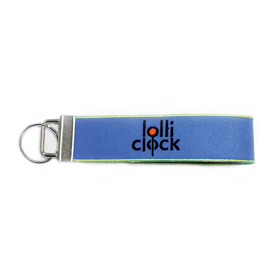 Embroidered Wrist Key Tag