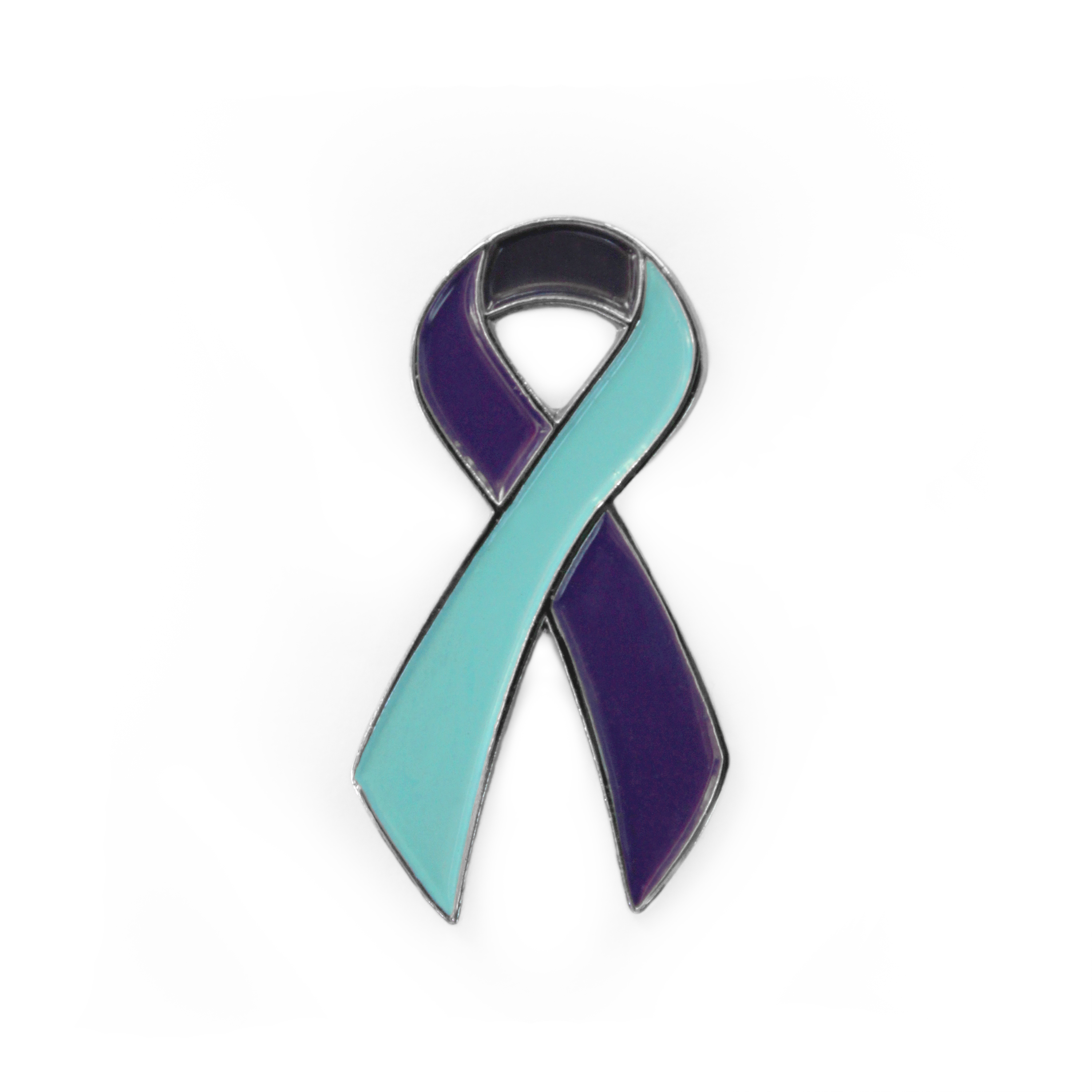 Awareness Ribbon - Purple & Teal - Suicide