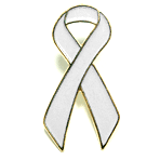 Awareness Ribbon - White - STOCK SALE !