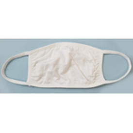 007 White Cloth Face Mask, washable, blank
