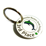 Key Tag - Soft Enamel - Etched Brass